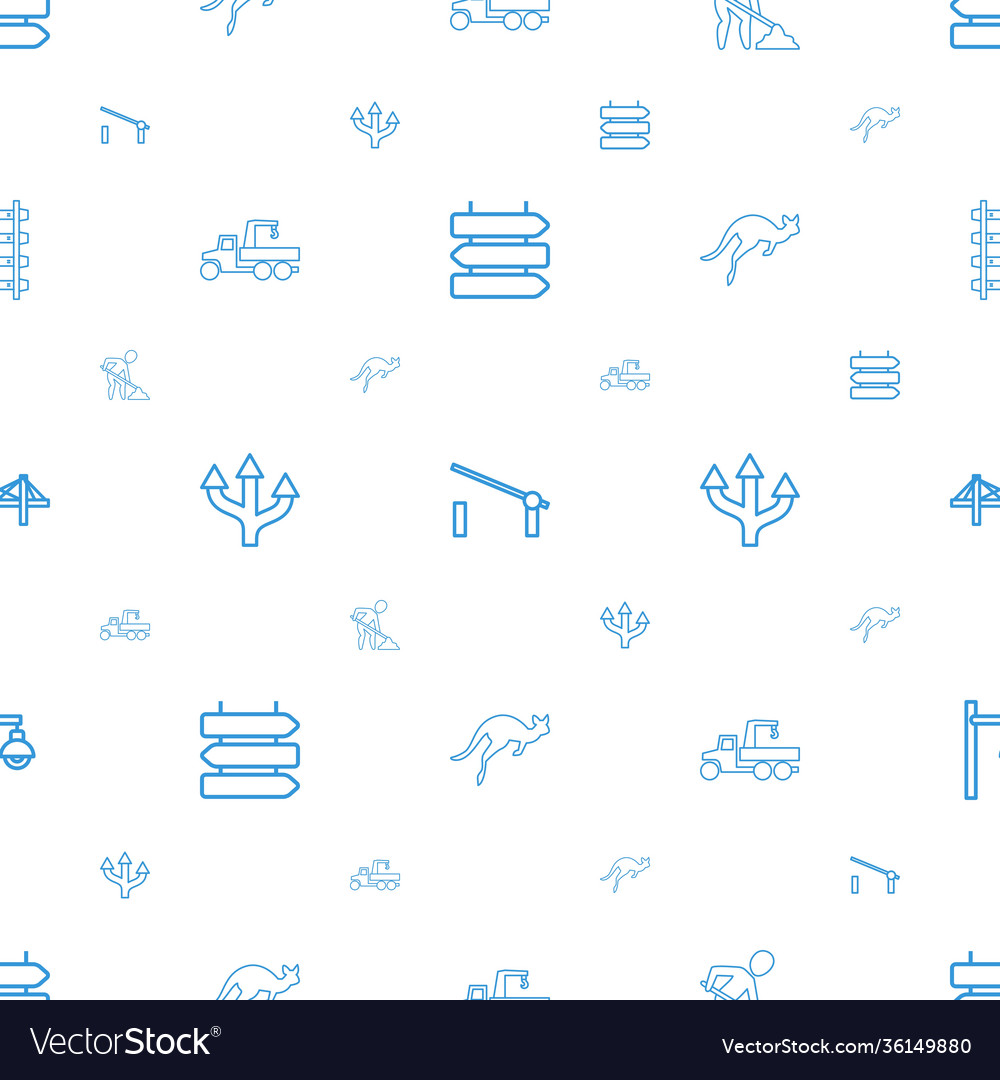 Road icons pattern seamless white background