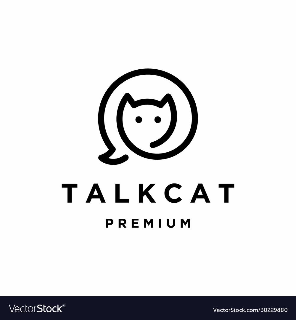 Talk cat logo design
