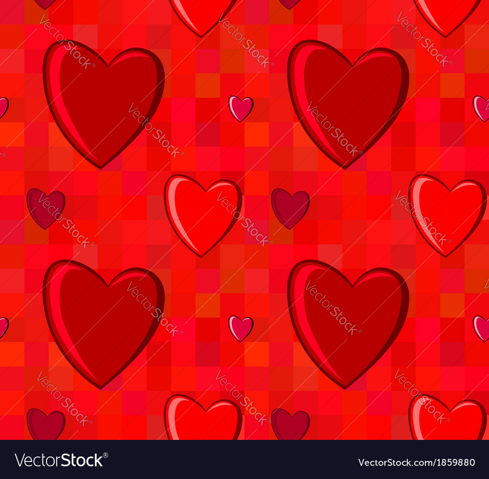 Valentines Day seamless pattern with hearts on