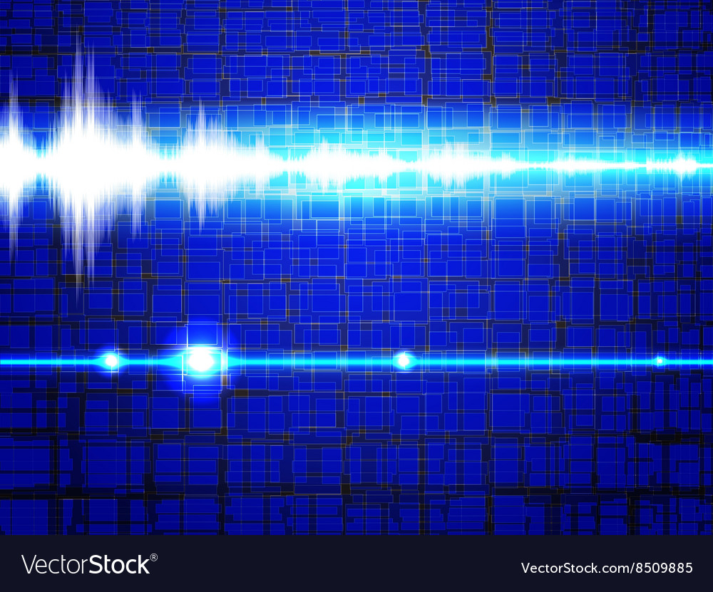 Blue Electronic Techno Background vector image