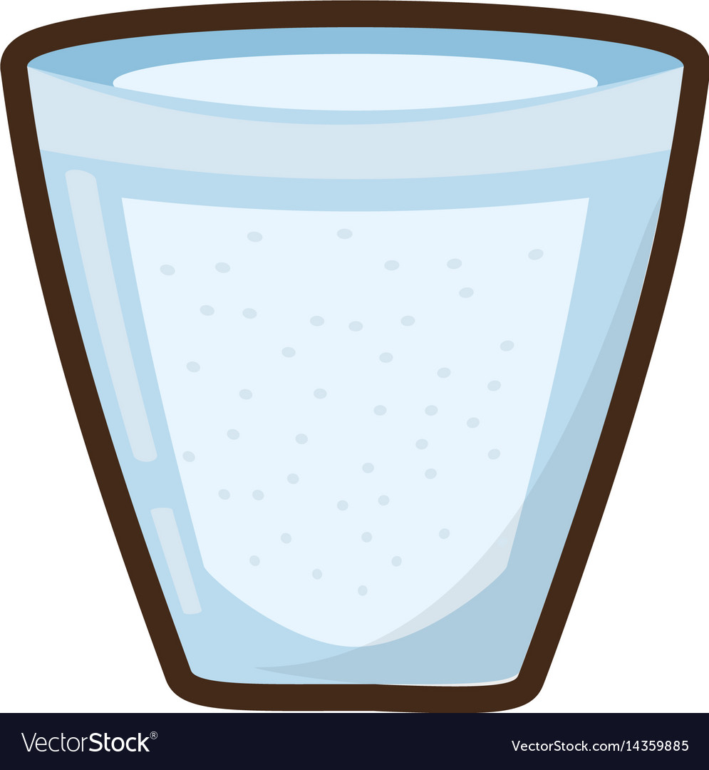 Cartoon Glass Cup Water Fresh Royalty Free Vector Image