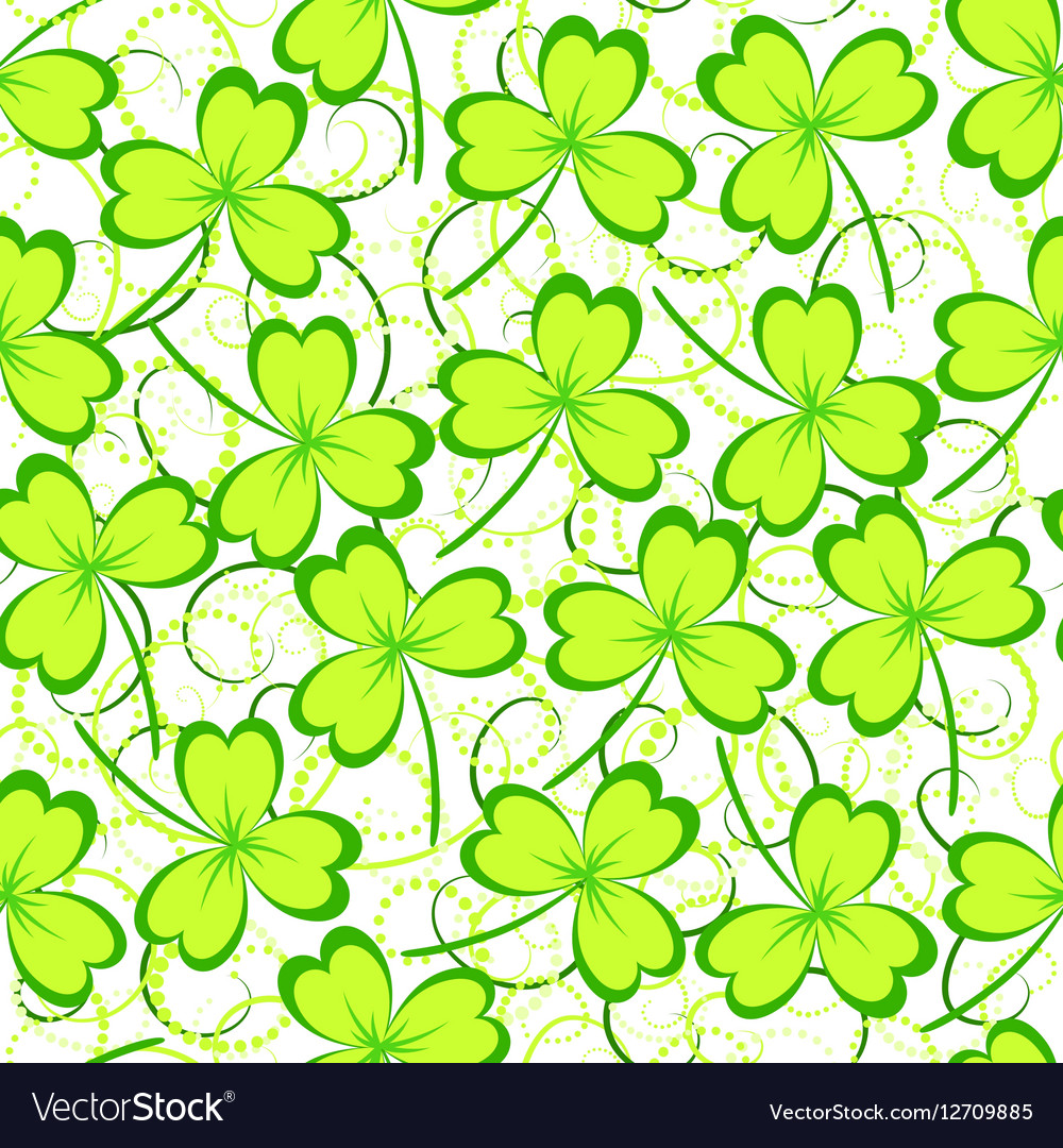 Clover leaves seamless pattern