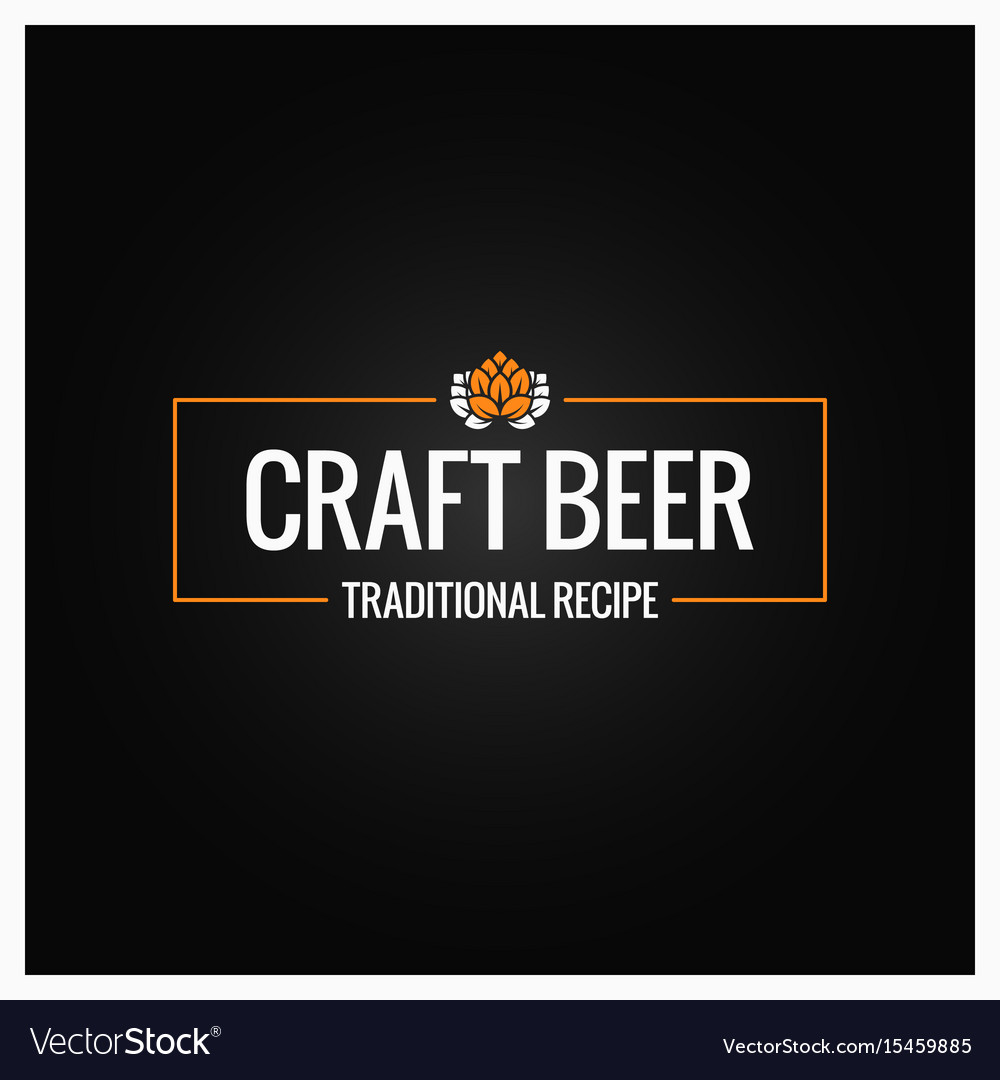 Craft beer logo design background
