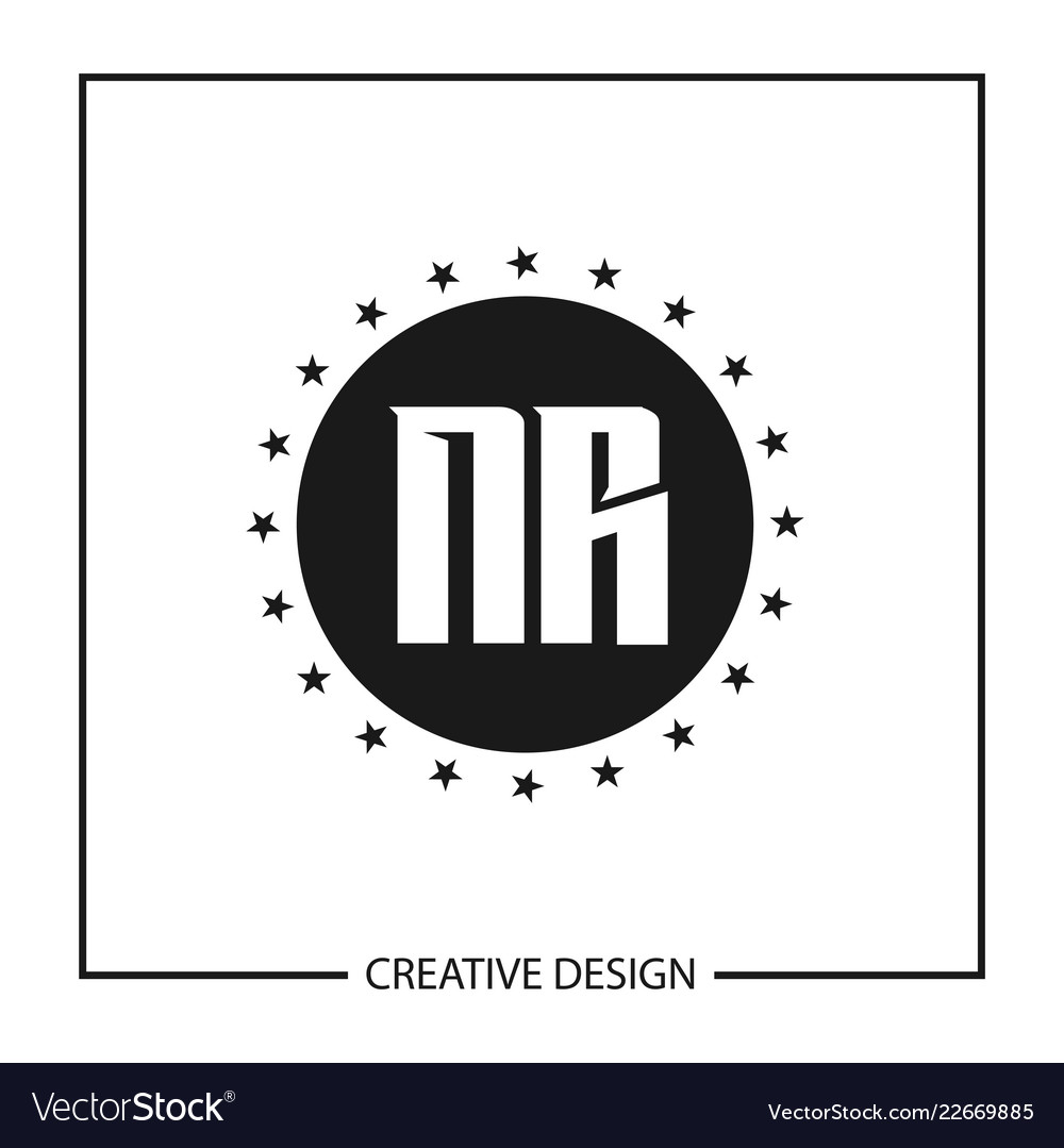 initial letter nr logo template design royalty free vector