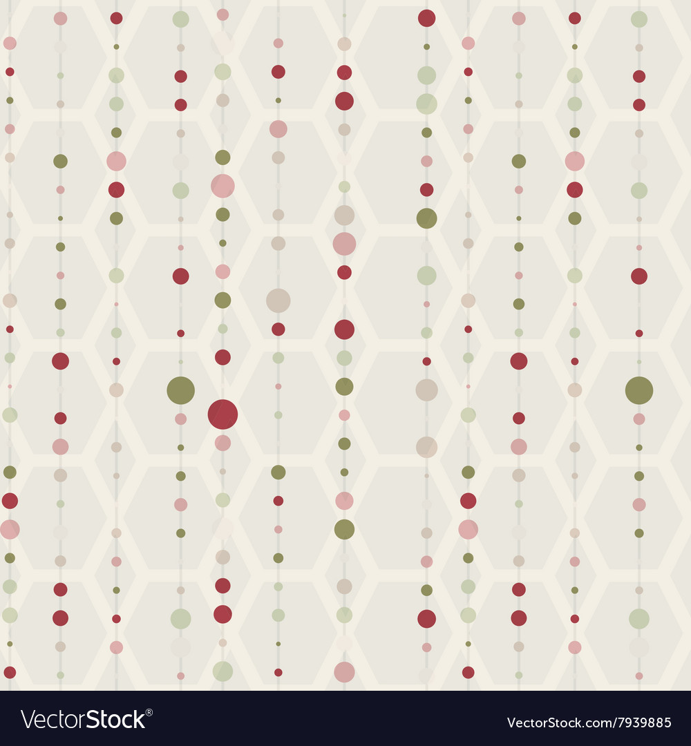 Seamless pattern with lines and dot