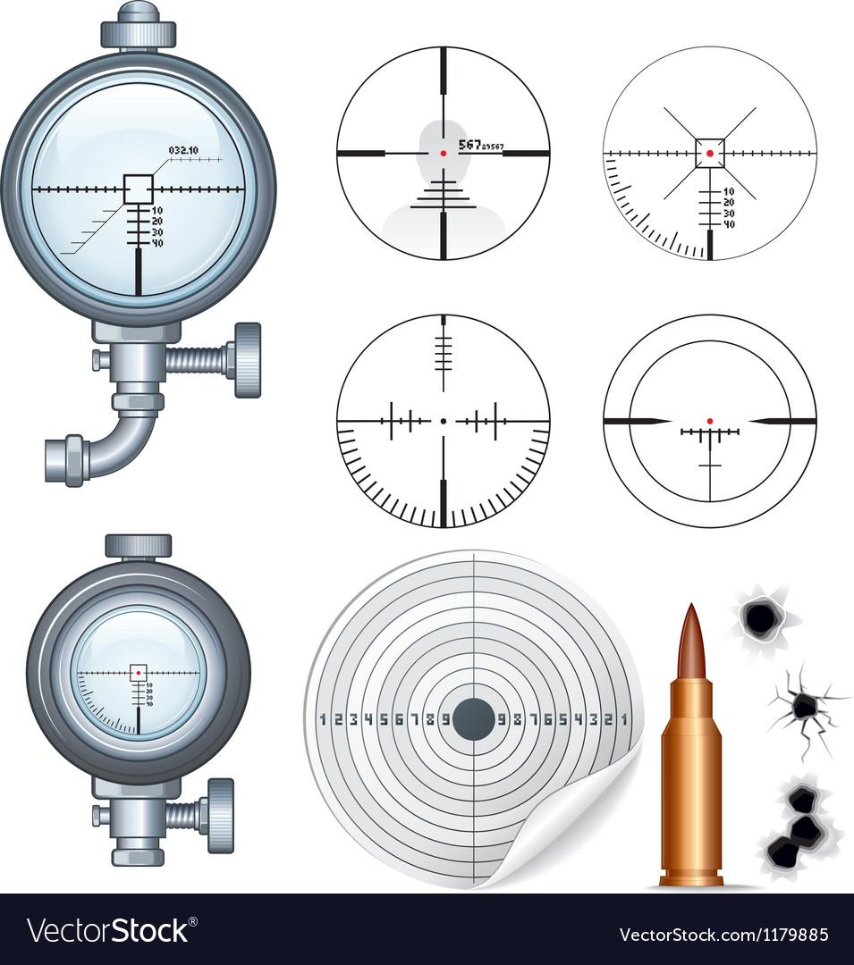 Sniper Scope Target Crosshair Clip Art