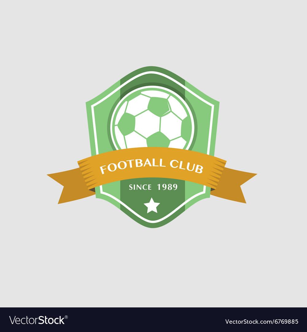 Soccer Football Badge and ribbon