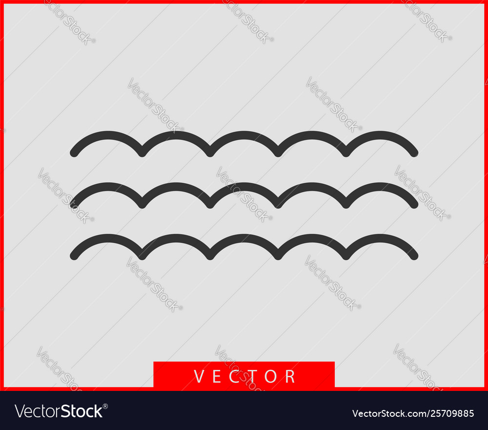 Waves design water wave icon wavy lines isolated