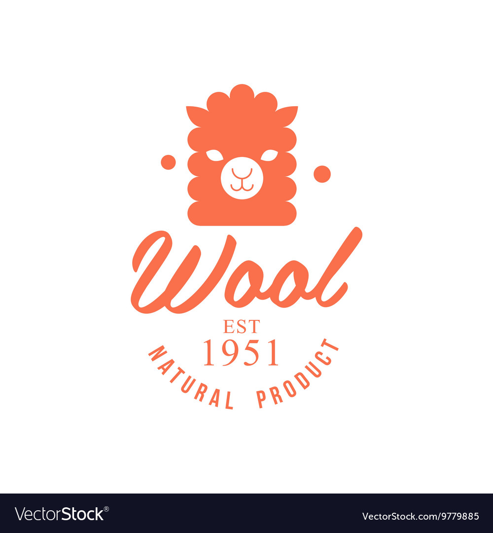 Wool Orange Product Logo Design vector image