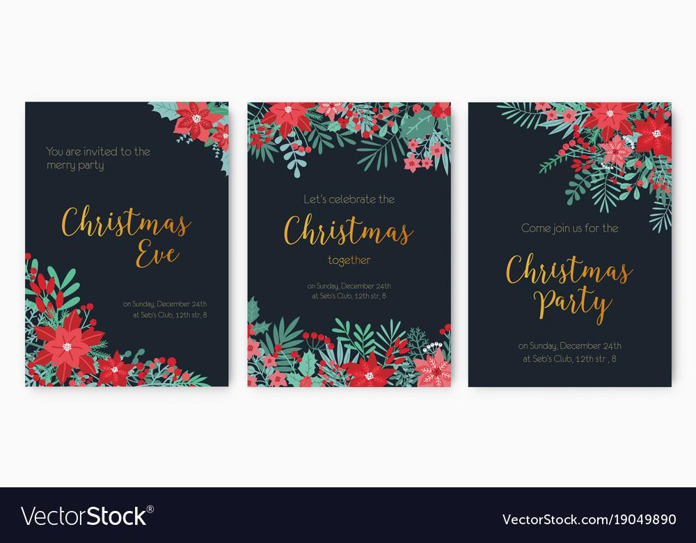 Bundle Of Christmas Eve Party Invitation Festive