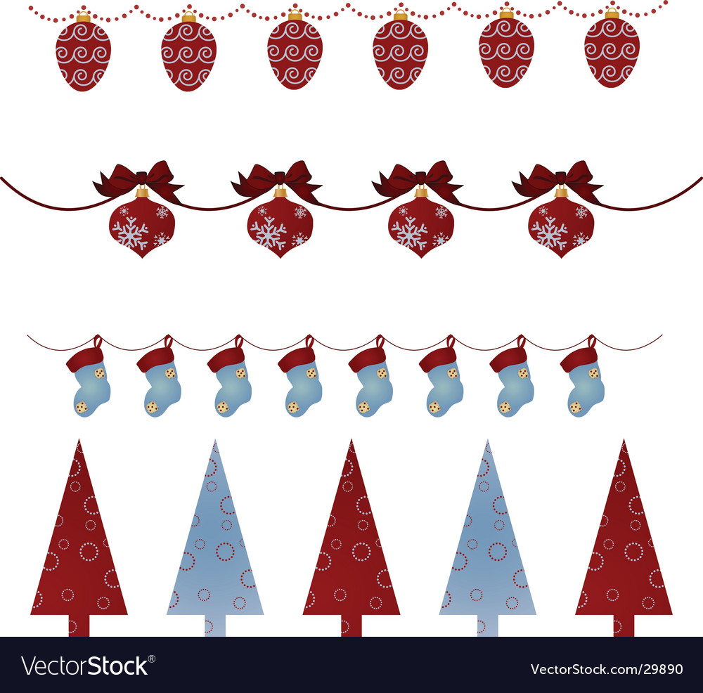 christmas borders royalty free vector image vectorstock