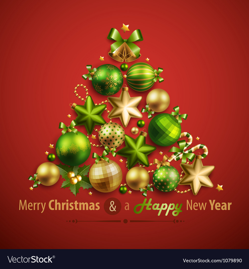 Christmas card with place for text vector image