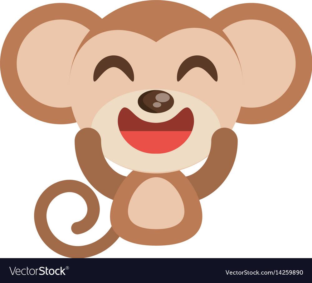 Cute monkey animal character funny