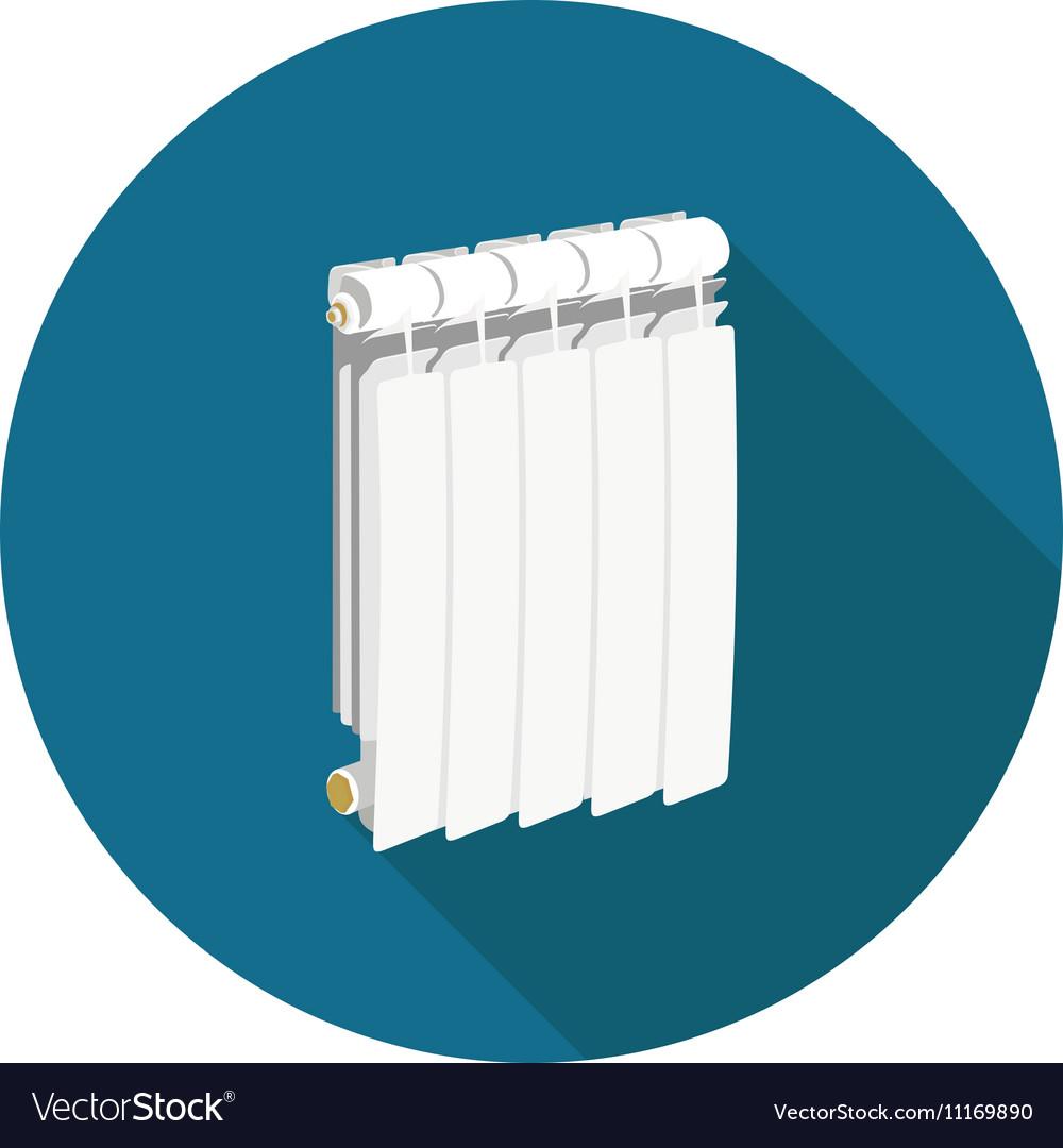 Flat icon radiator