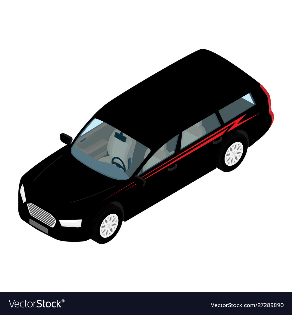 Isometric high quality city transport car icon