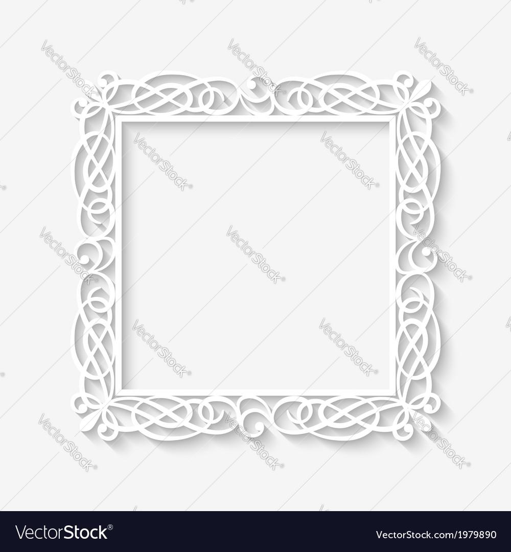 Charmant Vintage White Picture Frame Fotos - Benutzerdefinierte ...