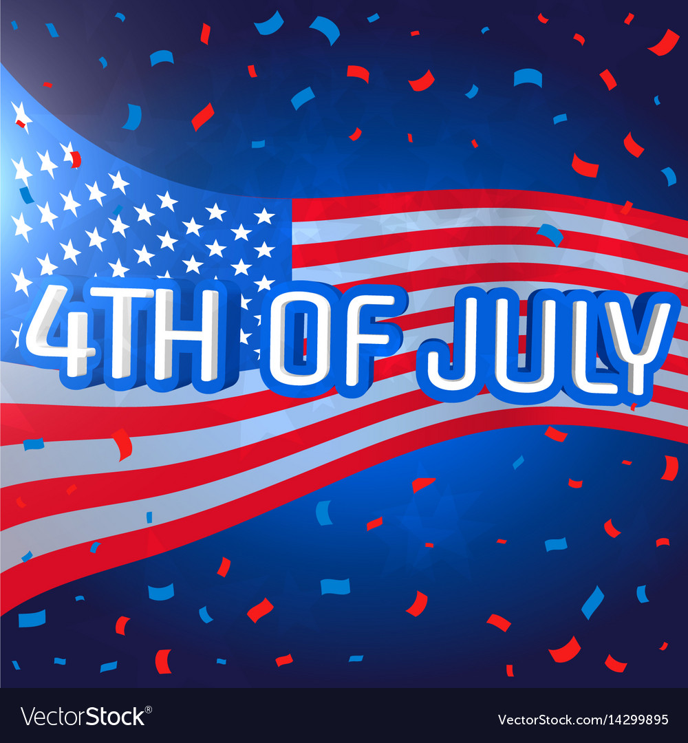 4th july celebration background with confetti