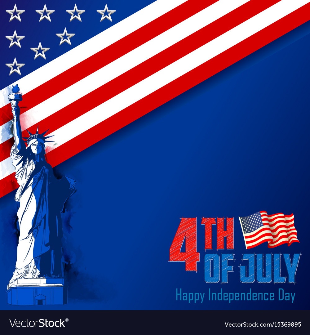 4th of july independence day of america background