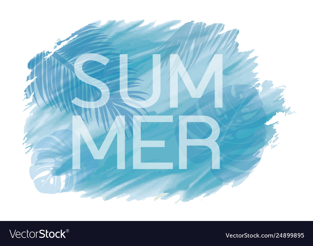 Abstract tropical summer background design