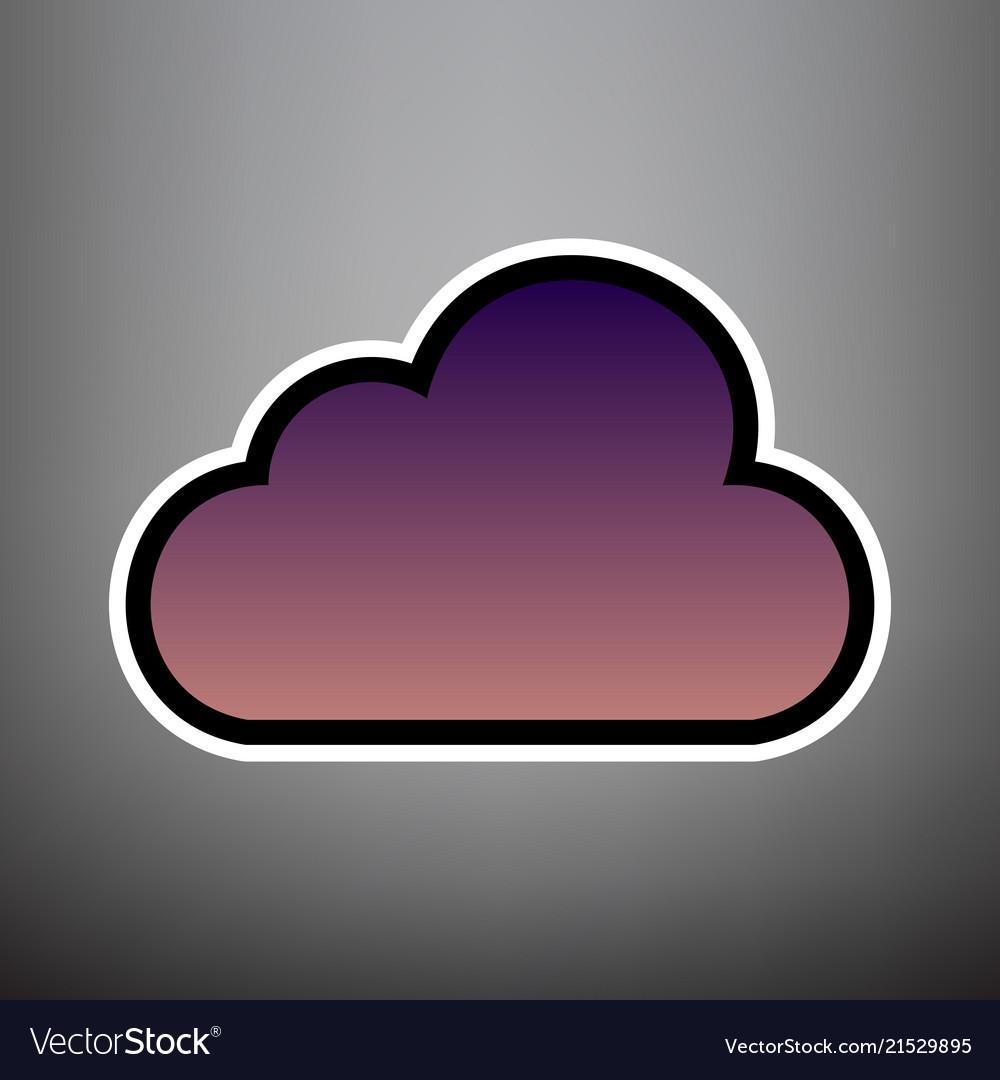 Cloud sign violet gradient