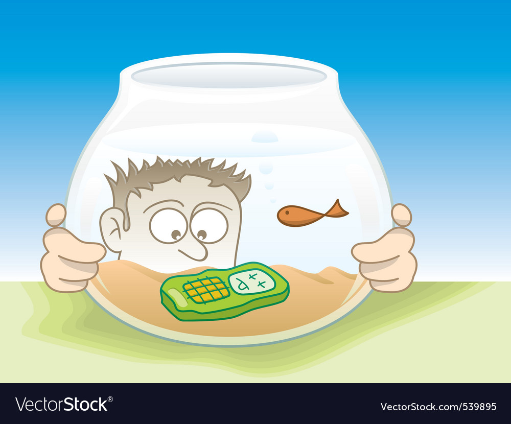 Drown cellphone vector image