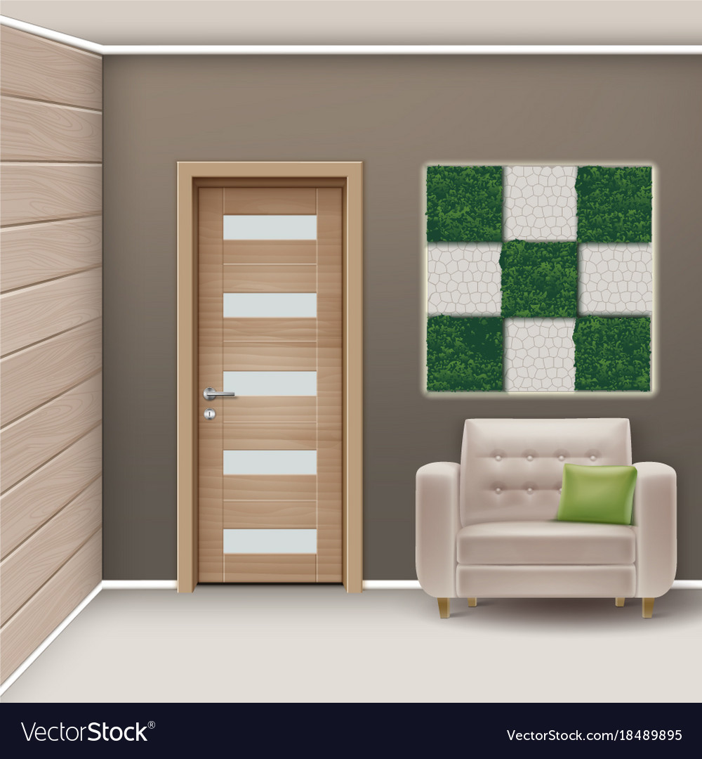 Eco-minimalist style room vector image
