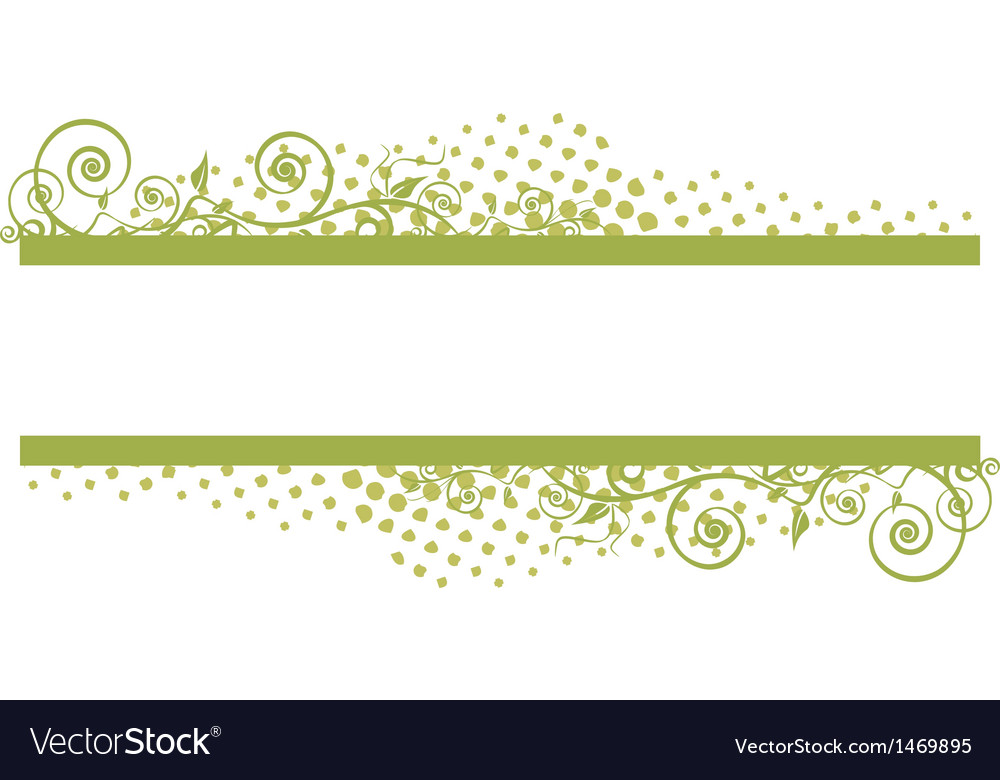 Grunge floral banner