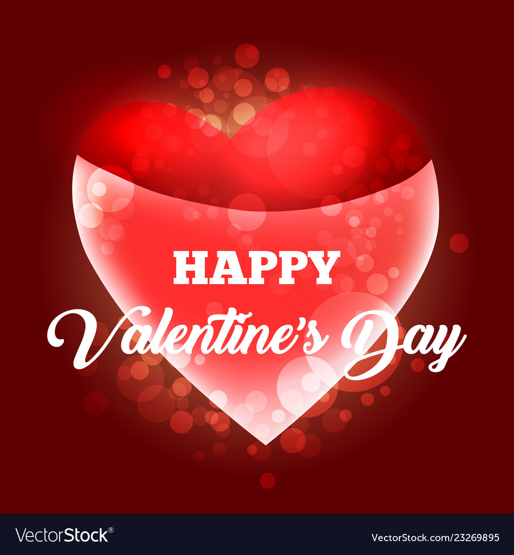 Happy Valentines Day Card Template Royalty Free Vector Image
