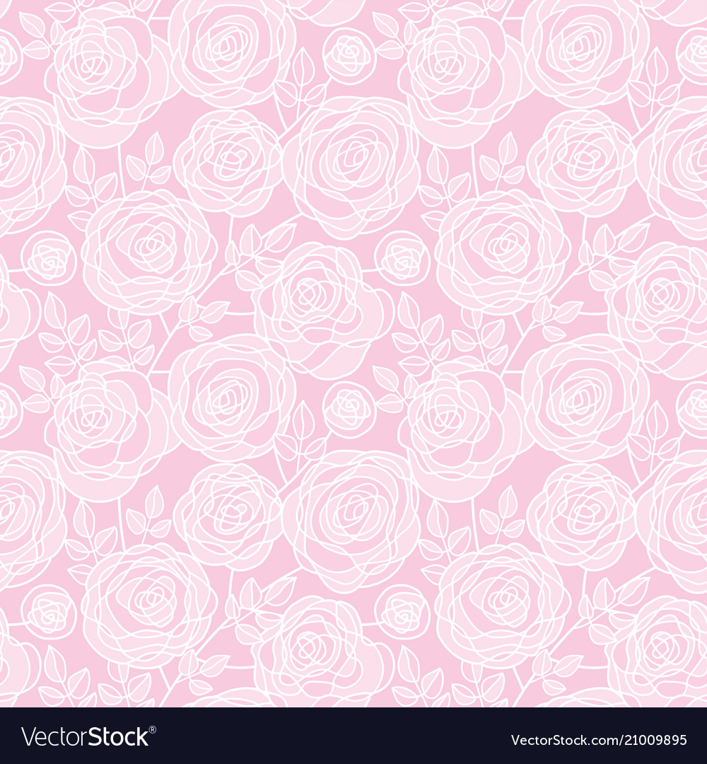 Simple pale color rose flowers seamless pattern