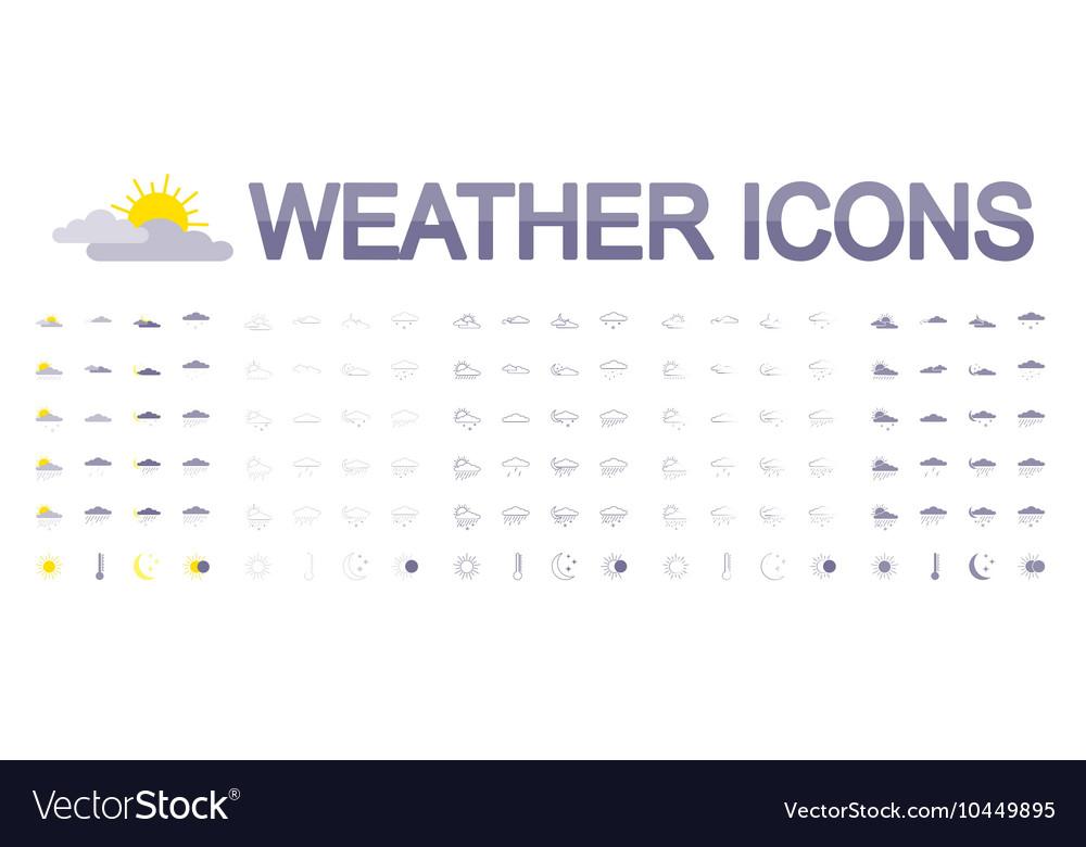 Weather icons Flat