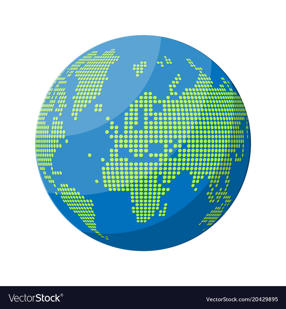 World map silhouette globe in dots royalty free vector image world map silhouette globe in dots vector image gumiabroncs Image collections