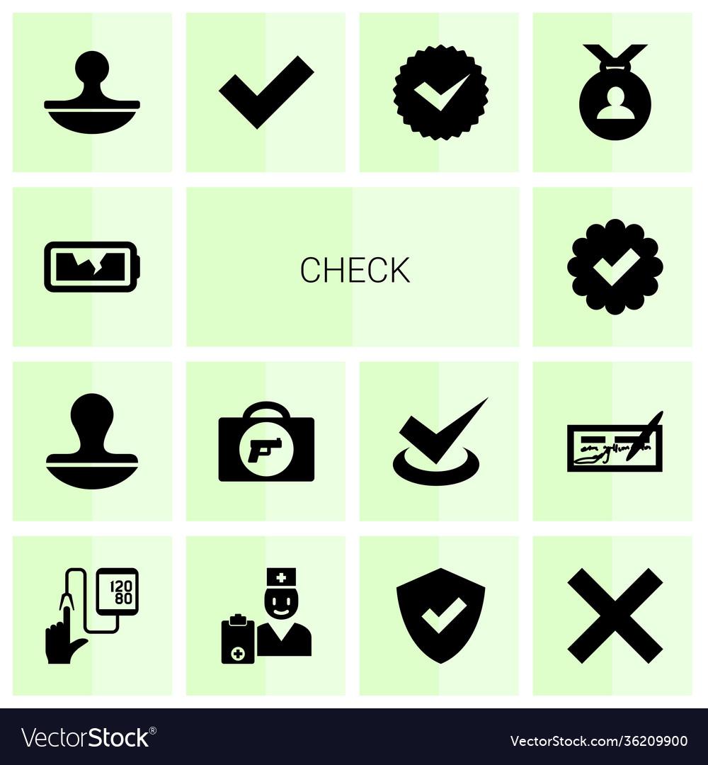 14 check icons