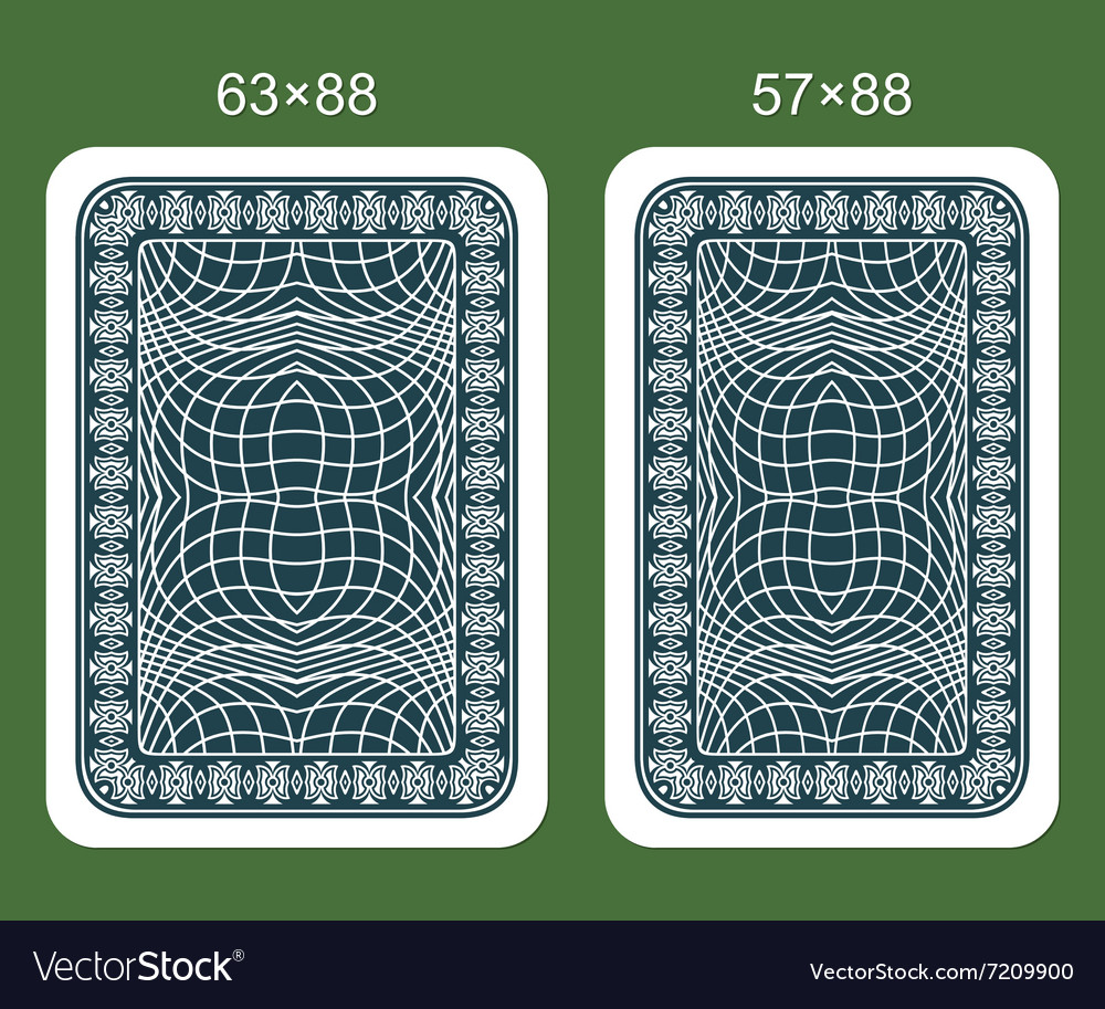 Back design playing card