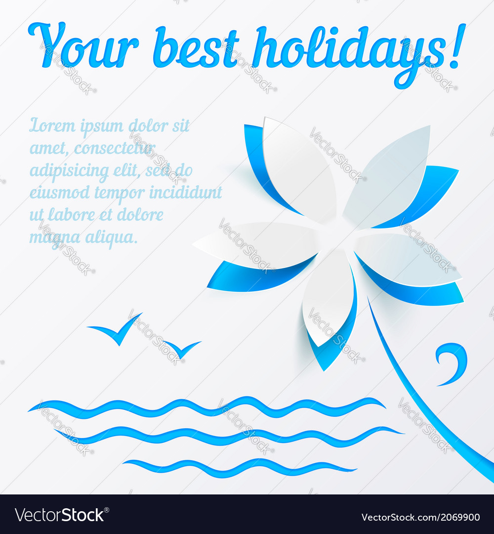 Cutout Paper Flower Summer Background Royalty Free Vector