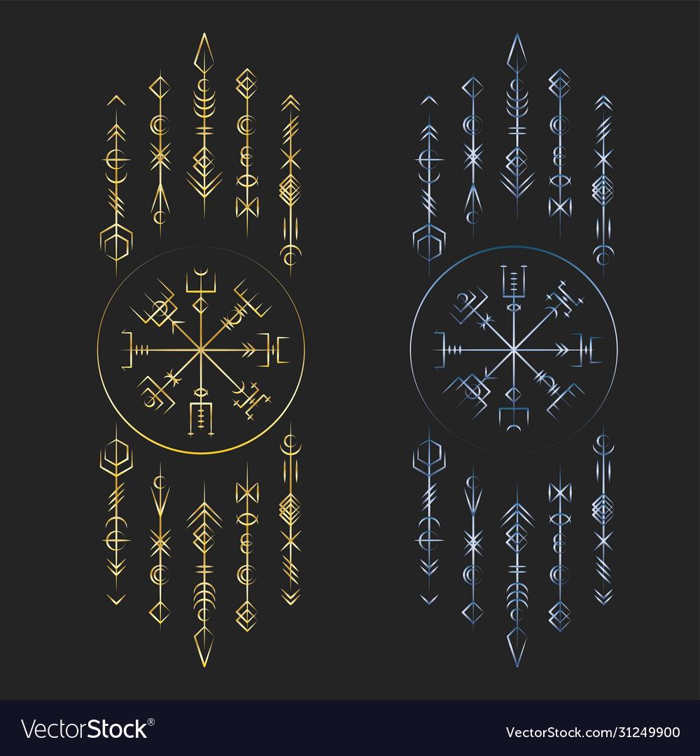 Dark runic symbols dreamer deco