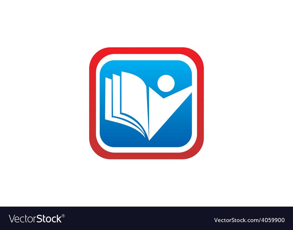 Education icon student book logo