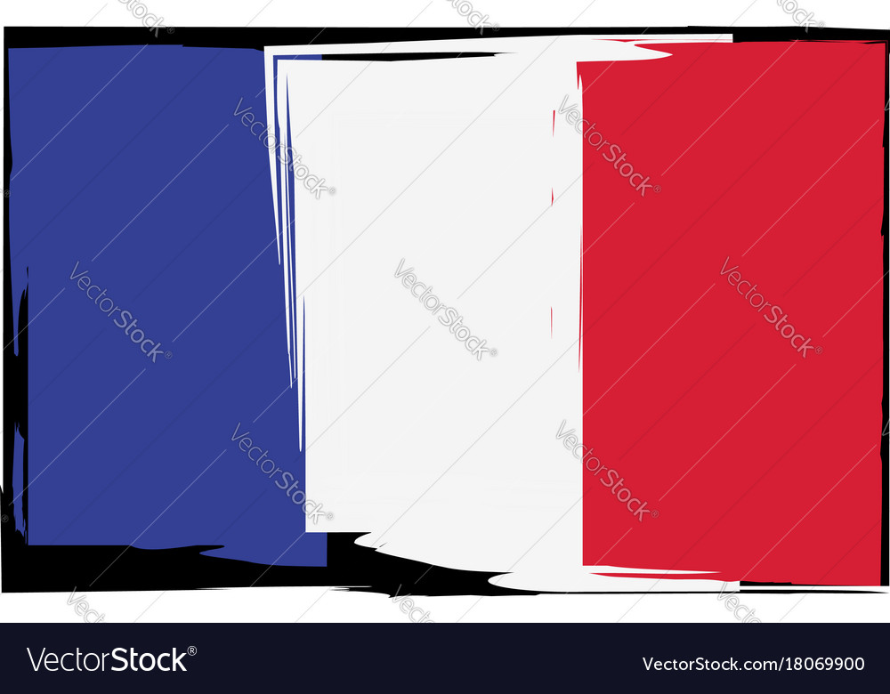 Grunge france flag or banner