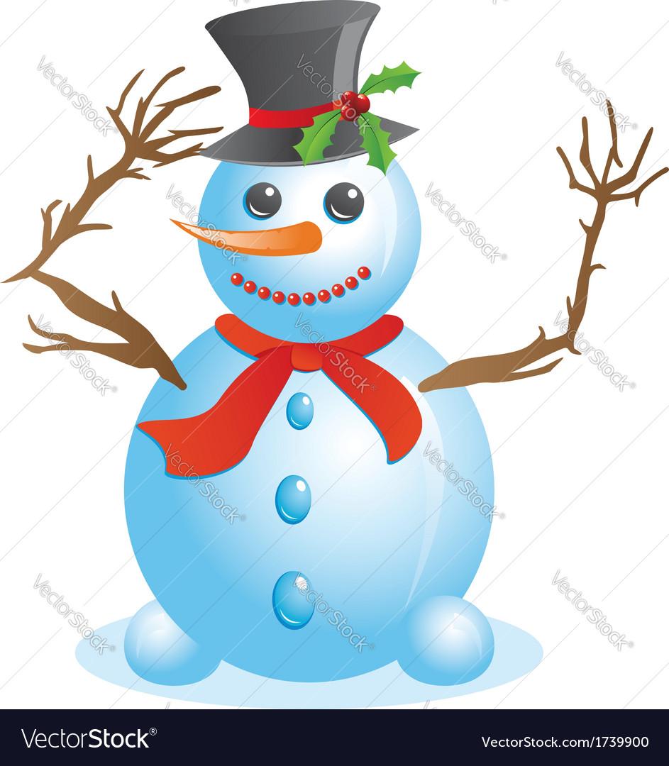 happy snowman royalty free vector image vectorstock rh vectorstock com snowman vector free illustrator snowman vector free illustrator