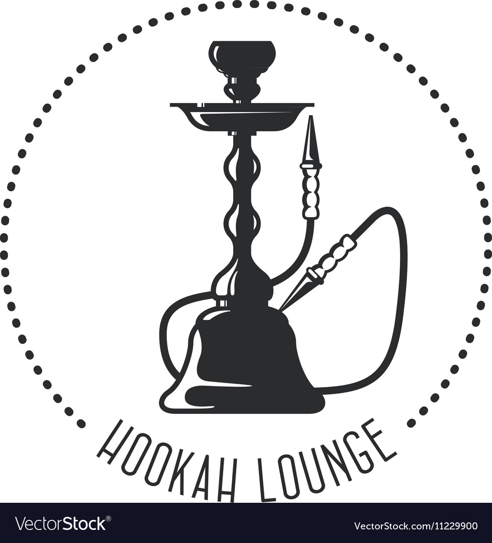 hookah lounge emblem shisha bar royalty free vector image rh vectorstock com hookah vector free hookah vector eps