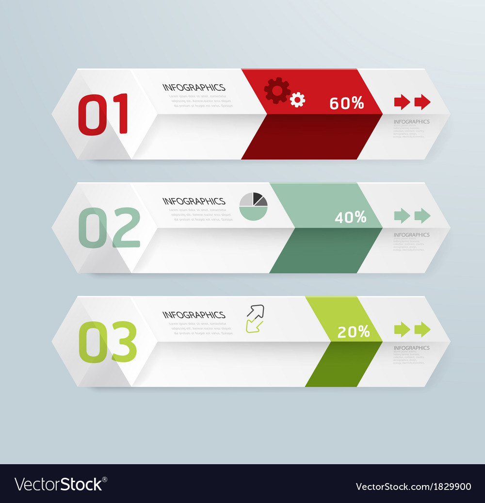 Infographic Template Modern Box Design Minimal Sty