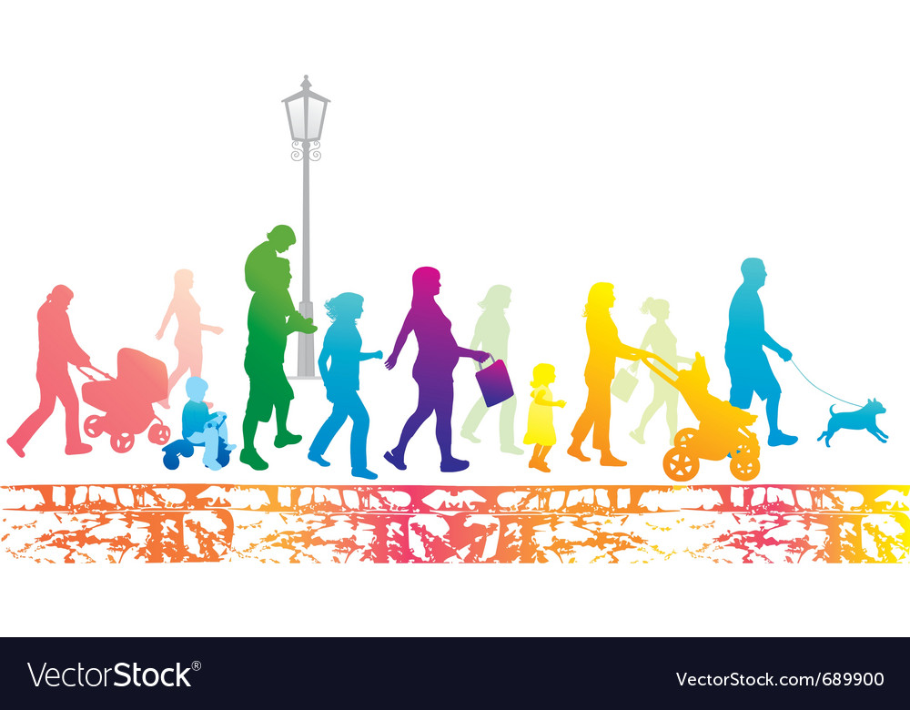 Lifestyle in the city vector image