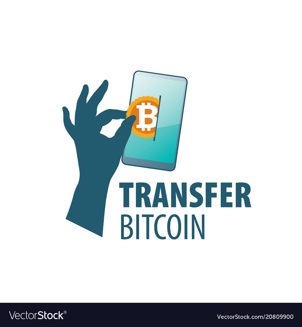 Logo bitcoin money transfer