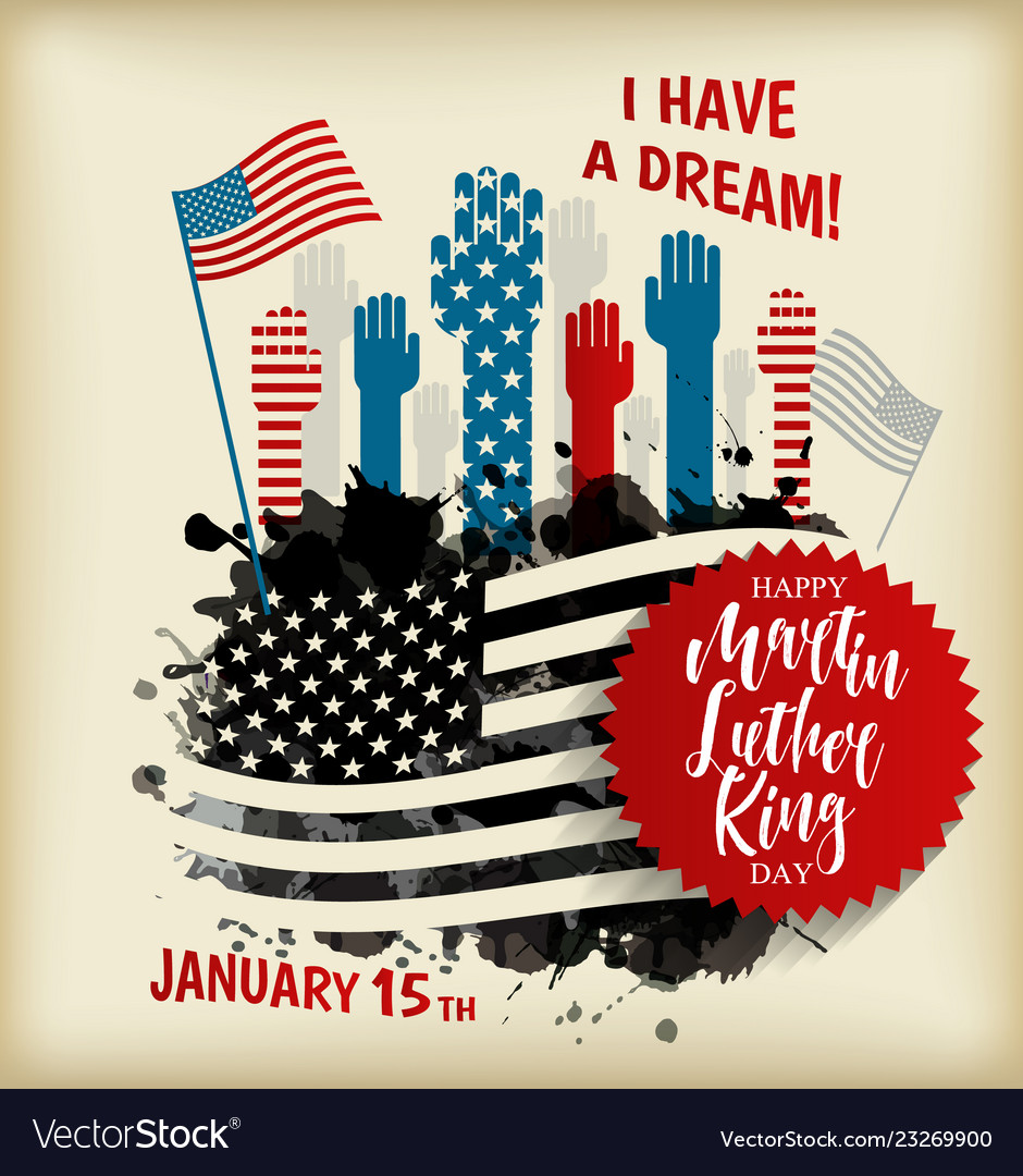 Martin Luther King Day Flyer Banner Or Poster Vector Image