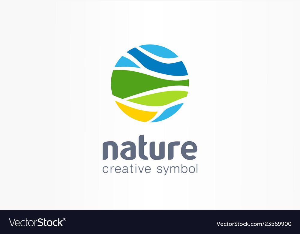 Nature creative symbol planet concept organic
