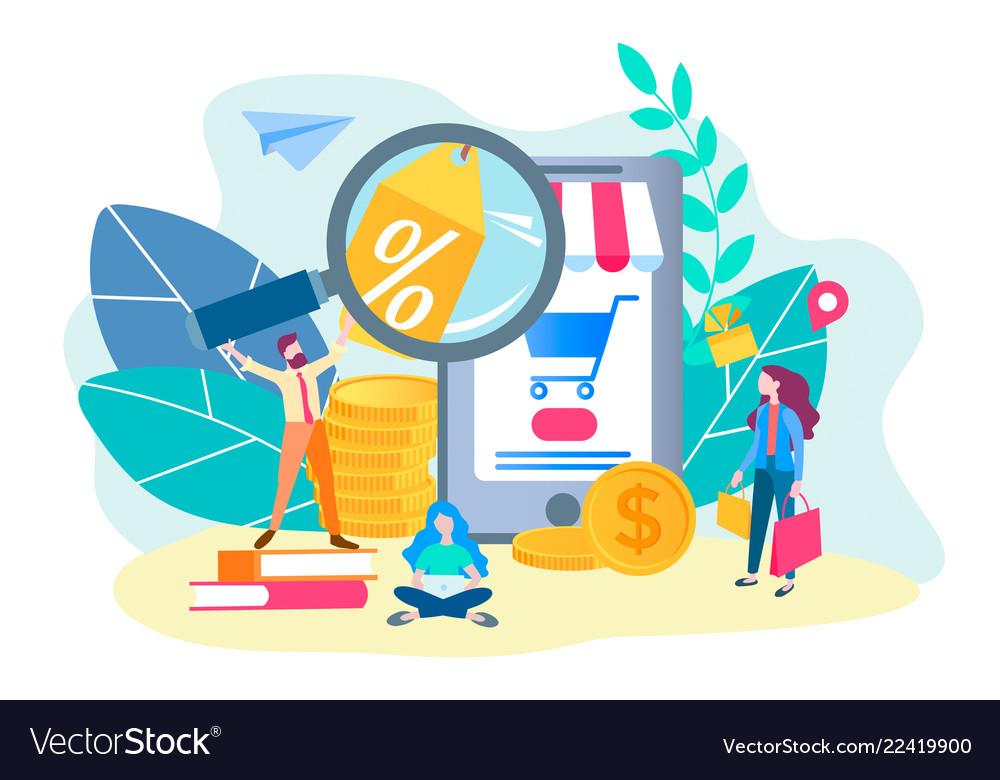 Online store concept online shopping mobile app