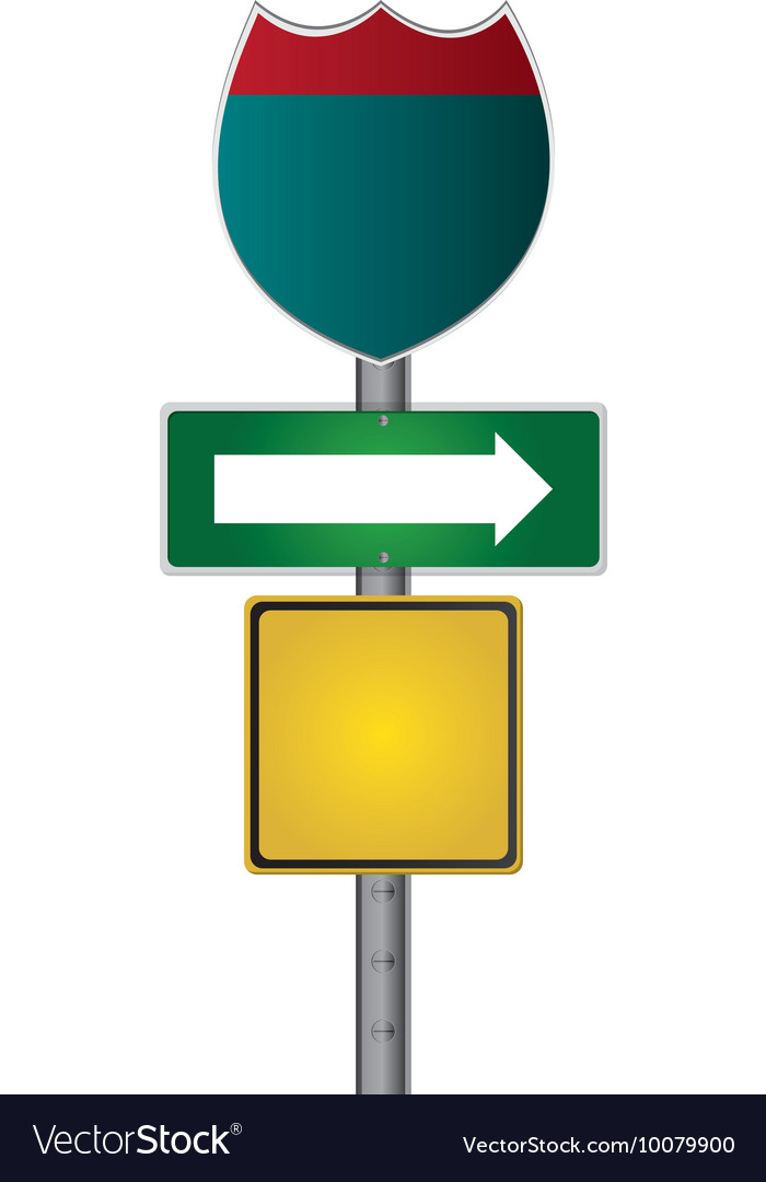 Route traffic sign icon