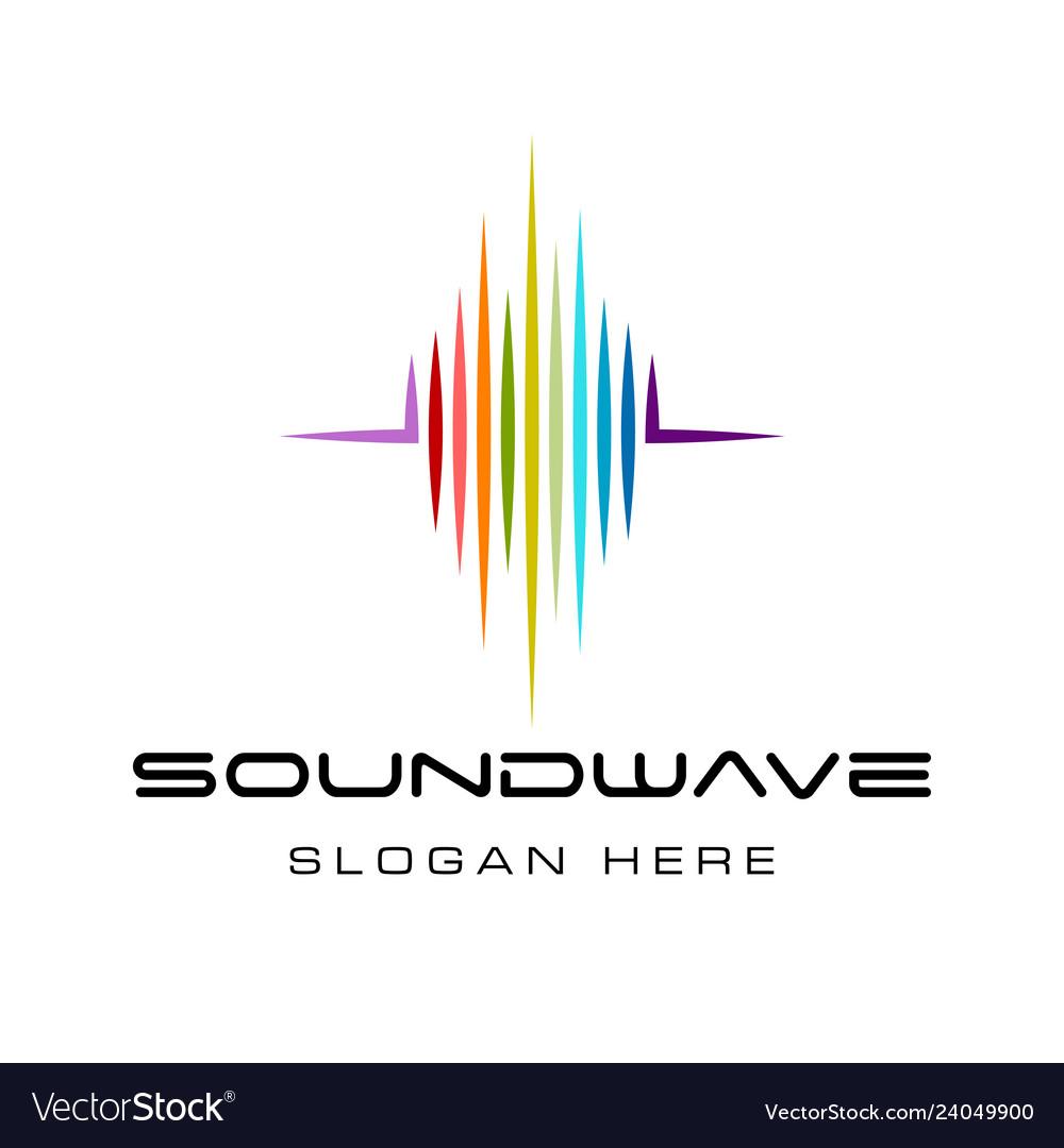 Sound wave logo design