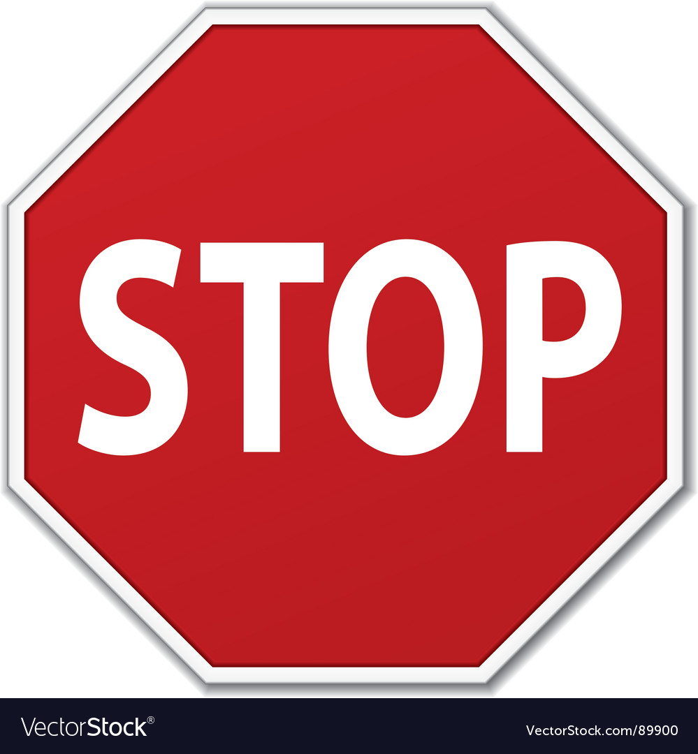 stop sign royalty free vector image vectorstock rh vectorstock com stop sign vector file stop sign vector free download
