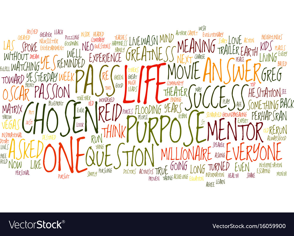 You are the chosen one text background word cloud vector image malvernweather Gallery