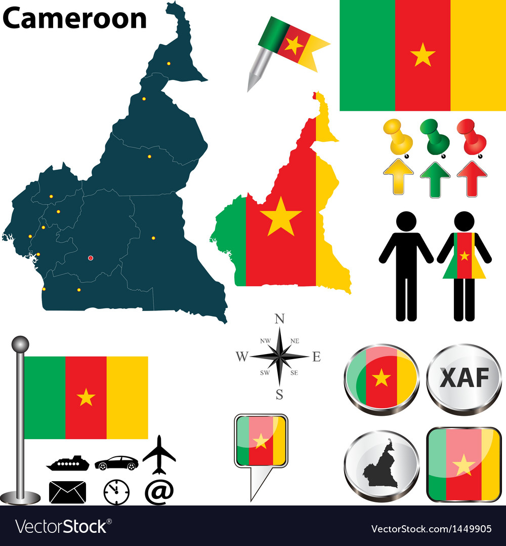 Cameroon map small